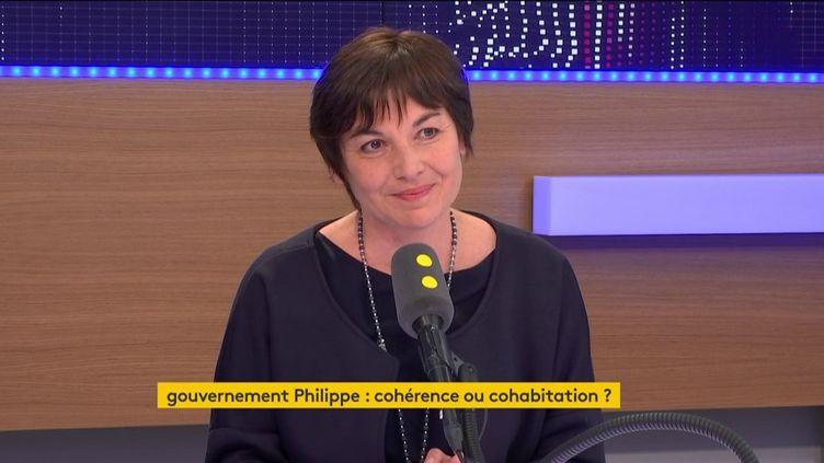 La ministre des Outre-mer, Annick Girardin, sur le plateau de franceinfo. (RADIO FRANCE)