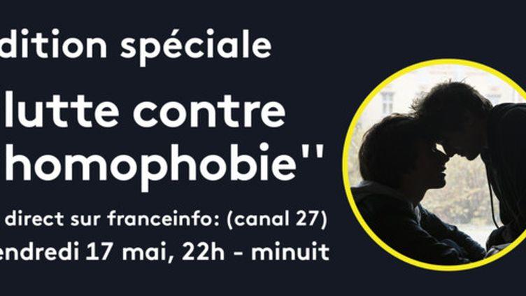 Soirée spéciale lutte contre l'homophie sur franceinfo. (FRANCEINFO)