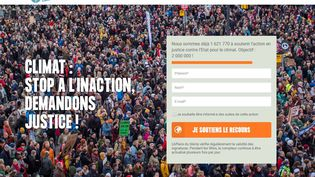 """Capture d'écran du site de la pétition""""L'Affaire du siècle"""". (L'AFFAIRE DU SIECLE)"""