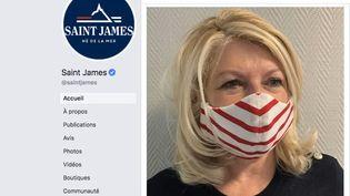 Les Tricots Saint James ont élaboré un prototype de masque lavable pour les personnels soignants dans le contexte de l'épidémie de coronavirus(capture écran). (FACEBOOK)