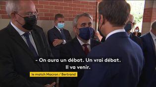 Xavier Bertrand et Emmanuel Macron à Roubaix (FRANCEINFO)