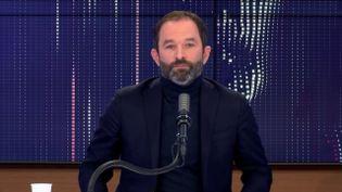"""Benoît Hamon, fondateur de Génération·s, était l'invité du """"8h30 franceinfo"""", dimanche 11 avril 2021. (FRANCEINFO / RADIOFRANCE)"""