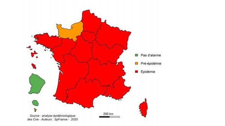 Lors de la quatrième semaine de janvier 2020, seule la région Normandie était en phase pré-épidémique de grippe. (SANTE PUBLIQUE FRANCE)
