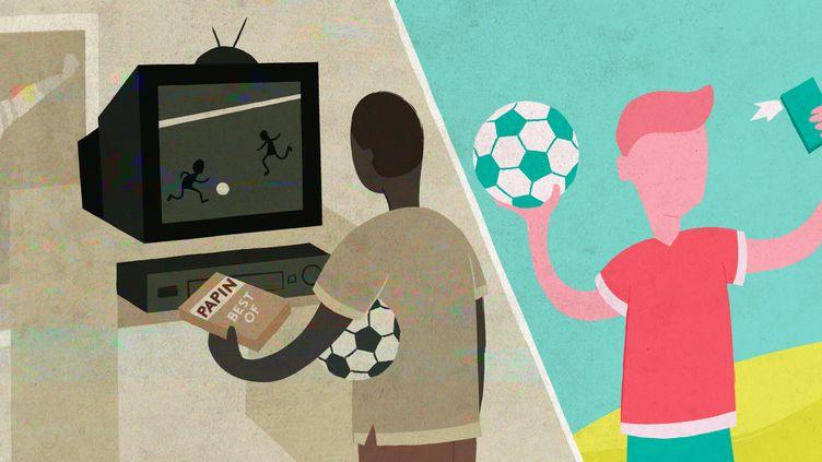 Si la passion du foot existe toujours chez les jeunes, leurs attentes et leurs usages ont évolué et bouleversent le milieu sportif. (ELLEN LOZON / FRANCEINFO)