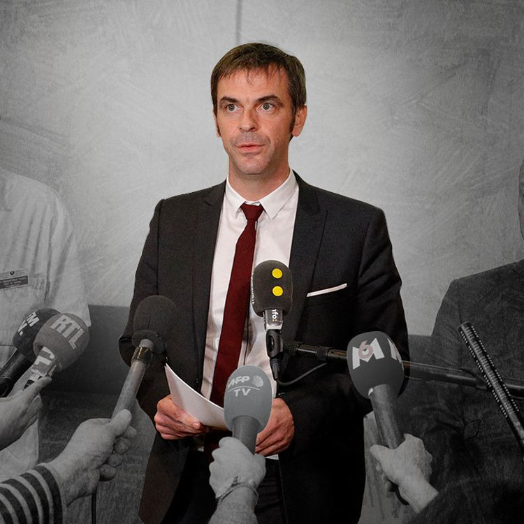 Le ministre de la Santé, Olivier Véran, le 17 février 2020 lors d'un point presse. (GEOFFROY VAN DER HASSELT / AFP / JESSICA KOMGUEN)