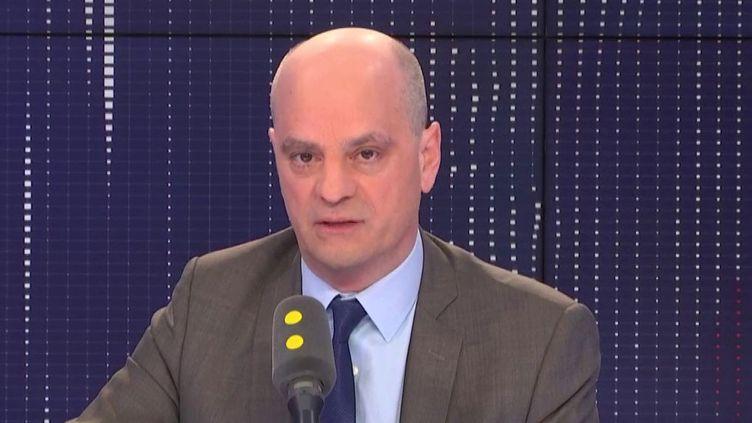 Le ministre de l'Education nationale, Jean-Michel Blanquer, invité de franceinfo le 18 février 2019. (FRANCEINFO / RADIOFRANCE)
