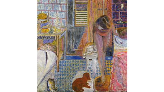 "Pierre Bonnard, ""Le Cabinet de toilette"", 1932. Huile sur toile, 121 × 118,2 cm. The Museum of Modern Art, New York, succession de Florence May Schoenborn 1996. (© 2012, THE MUSEUM OF MODERN ART, NEW YORK /SCALA FLORENCE© 2012, PROLITTERIS, ZURICH)"