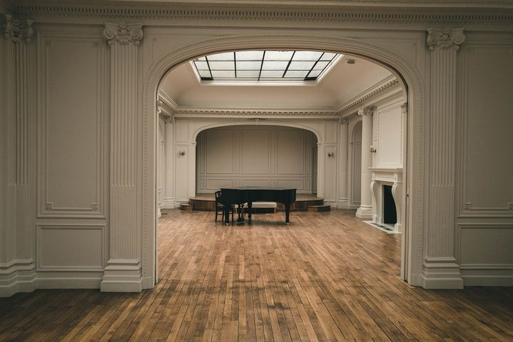 La nouvelle salle de concert de la salle Gaveau à Paris baptisée salle Ravel. (MATTHIEU BONHOURE / RADIO FRANCE)