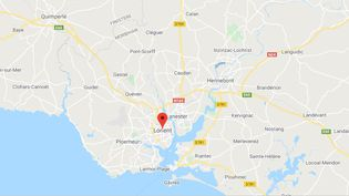 Lorient (Morbihan). (CAPTURE D'ECRAN GOOGLE MAPS)