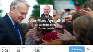 Capture d'écran du compte officiel du Premier ministre, Jean-marc Ayrault, samedi 8 mars 2014. (TWITTER.COM )