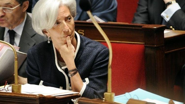 La ministre de l'Economie Christine Lagarde à l'Assemblée, lors des questions au gouvernement, le 1 er juin 2010. (AFP - Fred Dufour)