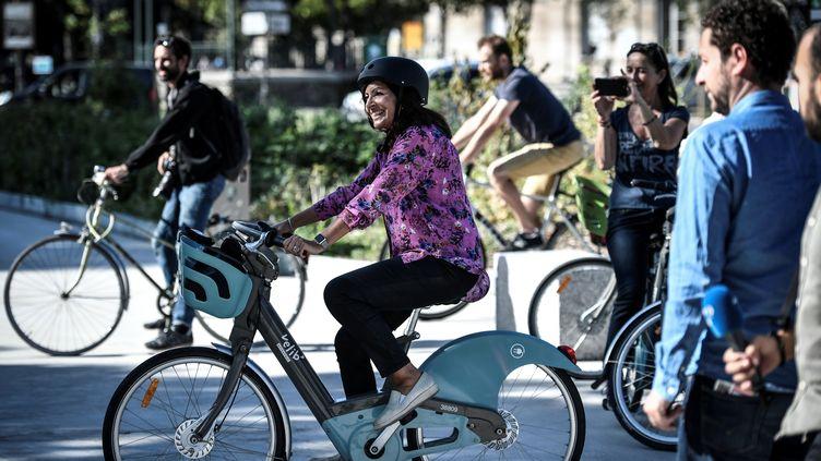 Anne Hidalgo le 4 septembre 2019 à Paris. (STEPHANE DE SAKUTIN / AFP)