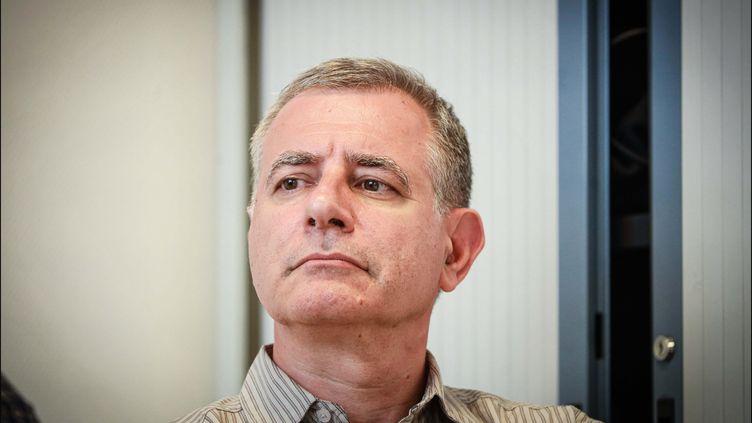 Christophe Prudhomme, médecin urgentiste et porte-parole de l'Association des médecins urgentistes de France (AMUF), lors d'une conférence de presse le 12 septembre 2019 à Paris. (LUC NOBOUT / MAXPPP)
