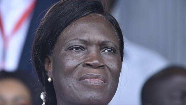 L'ex-première dame de Côte d'Ivoire, Simone Gbagbo, lors d'un meeting de l'opposition le 14 septembre 2019 à Abidjan. (SIA KAMBOU / AFP)