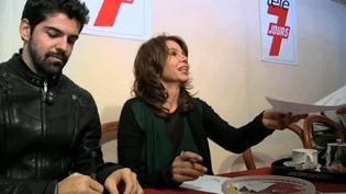 Miguel Angel Munoz et Victoria Abril signe des autographes, Festival de Luchon 2015  (Culturebox)