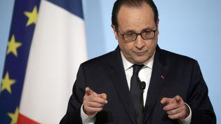 Le président François Hollande au plais de l'Elysée à Paris, le 19 janvier 2015. (PHILIPPE WOJAZER / POOL / AFP)