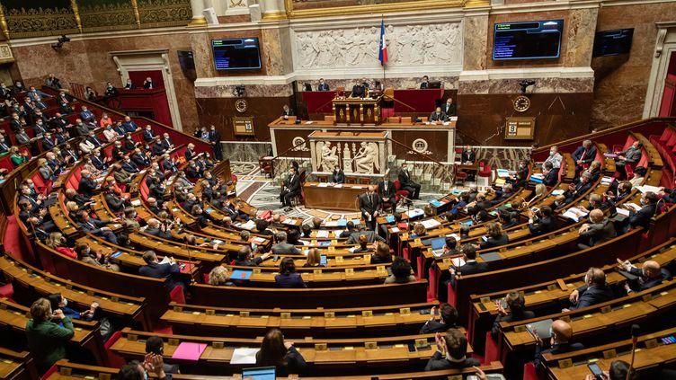 L'Assemblée nationale, en mars 2021. (AURELIEN MORISSARD / MAXPPP)