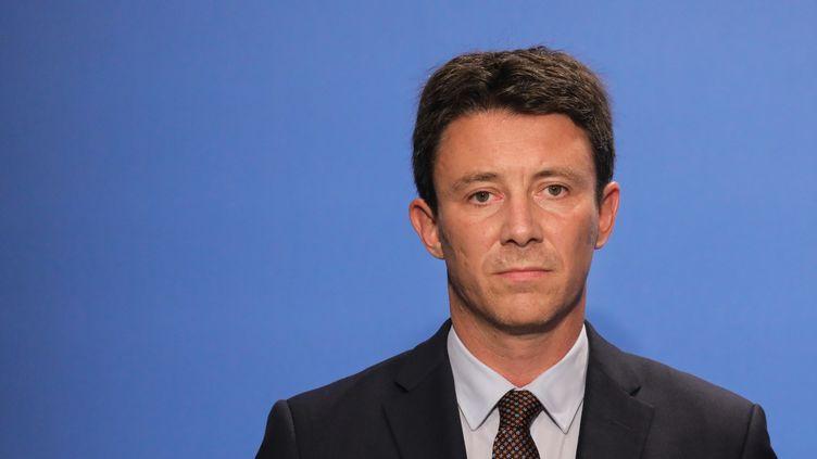 Benjamin Griveaux, le porte-parole du gouvernement, le 18 juin 2018 à l'Elysée. (LUDOVIC MARIN / AFP)