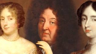Louis XIV entouré de ses deux favorites, Madame de Montespan (à gauche) et Madame de Maintenon (à droite).  (France 2)