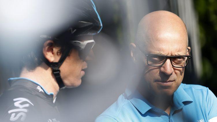 Dave Brailsford, le manager de l'équipe Sky (YOAN VALAT / MAXPPP)