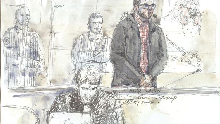 Bilal Taghi, lors de son procès devant la cour d'assises de Paris, le 19 novembre 2019. (BENOIT PEYRUCQ / AFP)