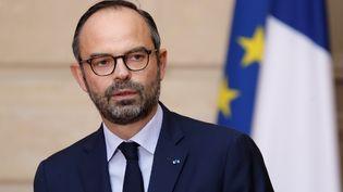Le Premier ministre, Edouard Philippe, annonce la décision du gouvernement concernant Notre-Dame-des-Landes, à l'Elysée, le 17 janvier 2017. (CHARLES PLATIAU / AFP)