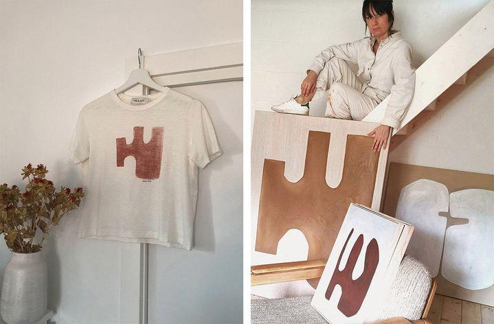 Virginie Hucher s'associe à Indi&Cold pour créer un t-shirt et recueillirdes fonds pourla Croix-Rouge afin de lutter contre la pandémie du Covid-19 (DR)