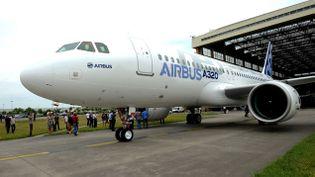 (Airbus dévoile son nouvel avion, l' A 320 Néo © Maxppp)