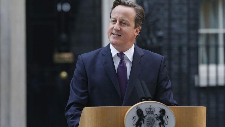 Le Premier ministre britannique, David Cameron,lors d'une allocution au 10 Downing Street à Londres (Royaume-Uni), le 19 septembre 2014. (SUZANNE PLUNKETT / REUTERS)