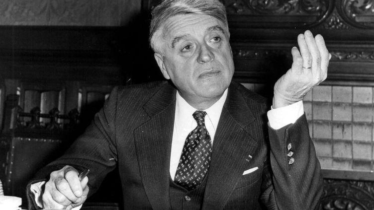 Robert Boulin, ancien Ministre du Travail et de la participation de Valéry Giscard d'Estaing. Photo d'archives. (MAXPPP)