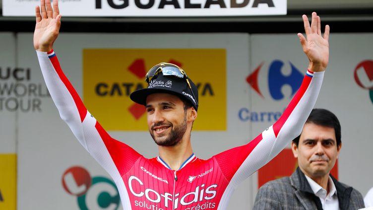 Nacer Bouhanni remportant une étape sur le Tour de Catalogne. (DE WAELE TIM / TDWSPORT SARL)