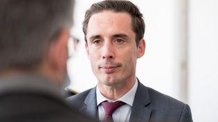 Jean-Baptiste Djebbari, le ministre délégué aux Transports, le 7 août 2021. (THOMAS BARON / HANS LUCAS / AFP)