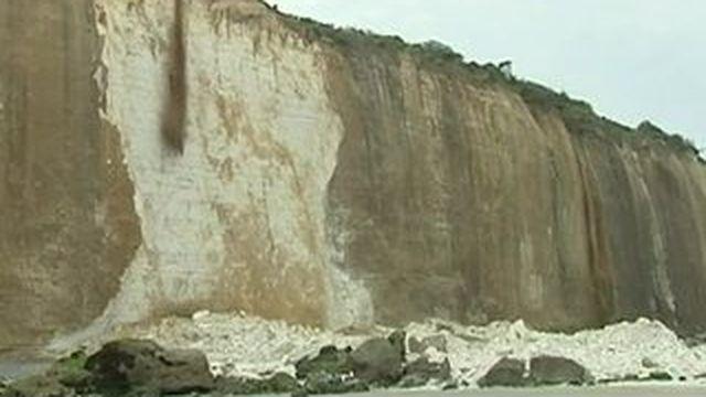 Éboulement d'une falaise près de Dieppe : les recherches interrompues