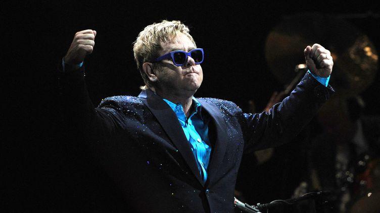 Elton John sur scène à Bercy, novembre 2019 (DOMINIQUE FAGET / AFP)