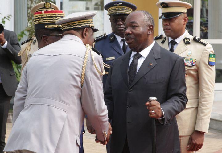 Ali Bongo le 16 août 2019 lors d'une cérémonie à Libreville, la capitale du Gabon. (STEEVE JORDAN / AFP)