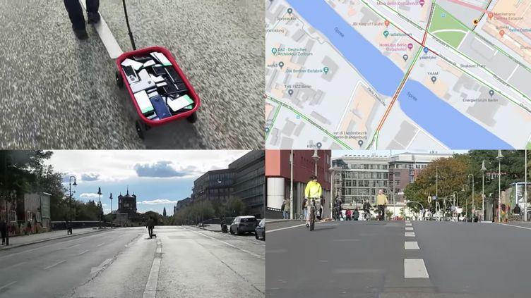 Une centaine de smartphone allumés peuvent-ils tromper Google Maps ? (Simon Weckert/YouTube)