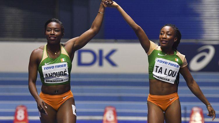 Murielle Ahoure et Marie-Josée Ta Lou (BEN STANSALL / AFP)