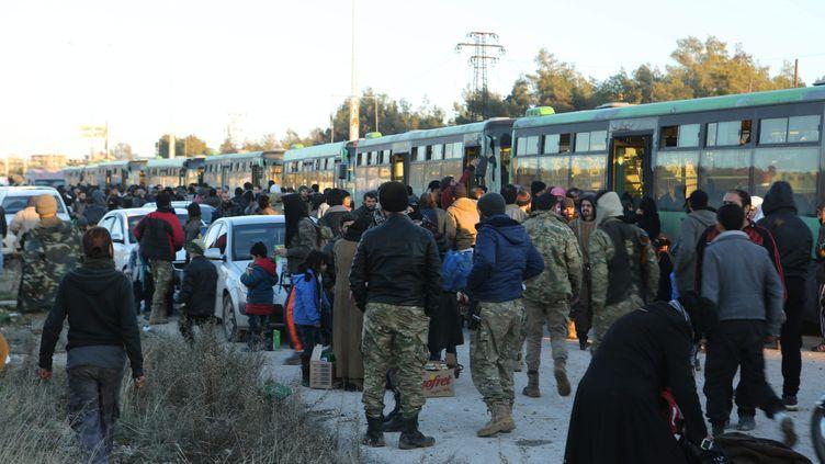 L'évacuation des civils à Alep (Syrie) a débuté le 15 décembre 2016. (JUMA MOHAMMAD / MAXPPP)