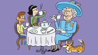 """La reine d'Angleterre vient prendre un thé dans """"Salut l'info !"""" (RADIO FRANCE)"""