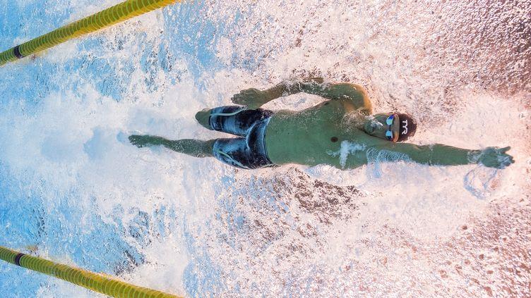 Florent Manaudou dans son élément sur le 50m nage libre (FRANCOIS-XAVIER MARIT / AFP)
