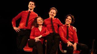 Le quartet Les Goguettes (MARYLÈNE EYTIER - AUBONDECLIC.C)