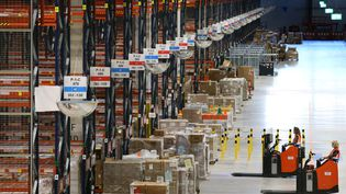 Entrepôt Amazon àOsterweddingen (Allemagne), en septembre 2020 (PICTURE ALLIANCE VIA GETTY IMAGES)