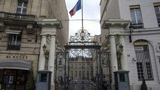 L'entrée du ministère de l'Intérieur, Place Beauvau à Paris, le 13 février 2018. (CHRISTOPHE ARCHAMBAULT / AFP)