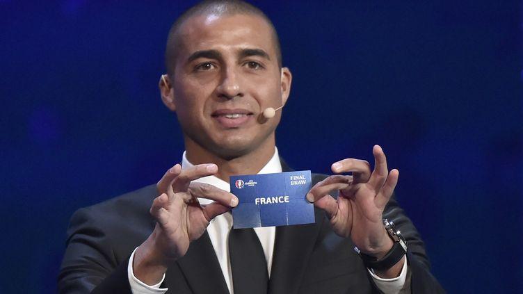 David Trezeguet participait au tirage au sort de l'Euro 2016, réalisé le 12 décembre 2015 à Paris. (LOIC VENANCE / AFP)