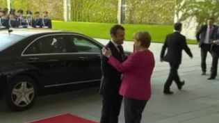 Les relations entre la France et l'Allemagne sont au cœur d'un traité signé mardi 22 janvier par Emmanuel Macron et Angela Merkel à Aix-la-Chapelle. (FRANCE 2)