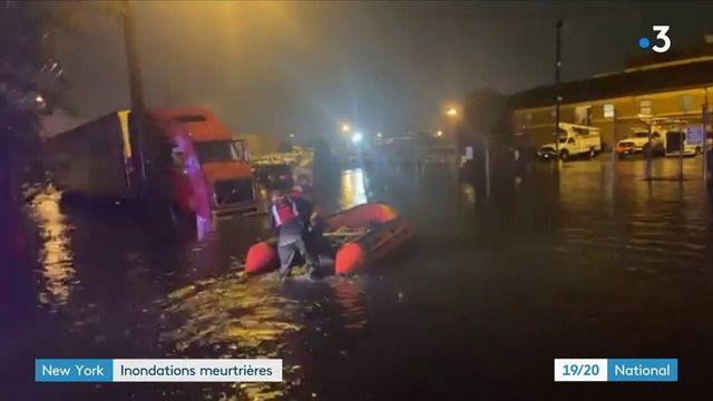 New York : au lendemain d'inondations historiques, le choc des habitants