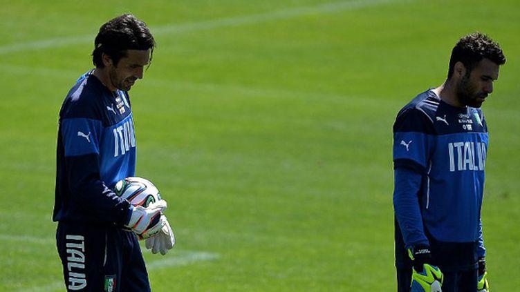 Salvatore Sirigu devrait suppléer Gianluigi Buffon dans les buts de l'Italie (FILIPPO MONTEFORTE / AFP)