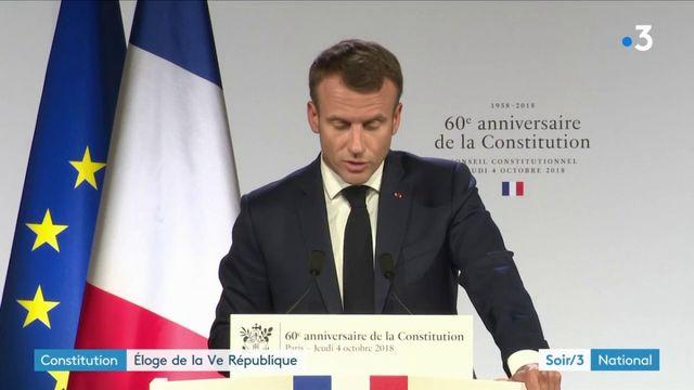 Constitution : l'éloge de la Ve République d'Emmanuel Macron