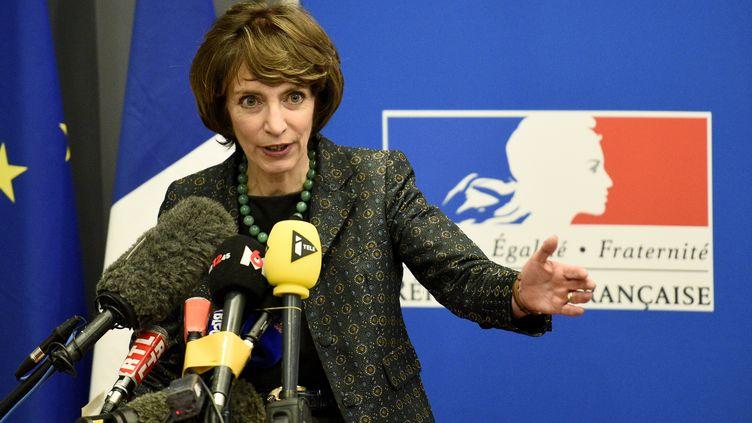 Marisol Touraine donne une conférence de presse, le 15 janvier 2016, à Rennes (Ille-et-Vilaine). (DAMIEN MEYER / AFP)