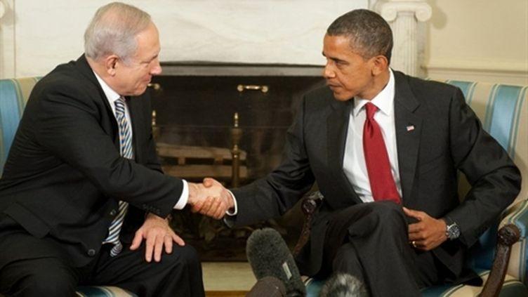 Le président Obama et le Premier ministre Netanyahu à la Maison blanche le 08/07/10 (AFP Saul Loeb)